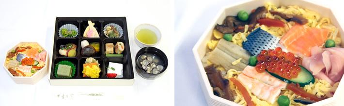 老舗の味 はくちょう弁当(ちらし寿司)